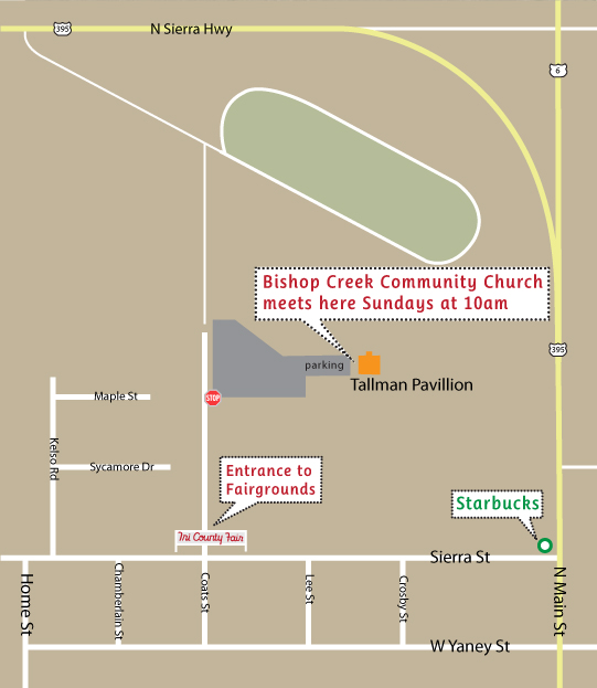 BCCC @ Tri County Fairgrounds Map