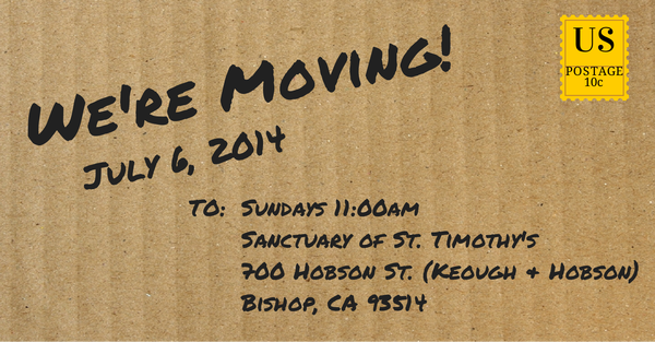 We're Moving! July 6, 2014